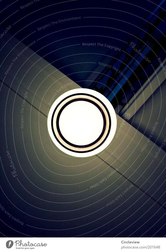 Wahr-Schein-Lich(t) schön alt weiß schwarz Lampe dunkel Stil oben hell Architektur Glas Design elegant Beton Kreis Treppe