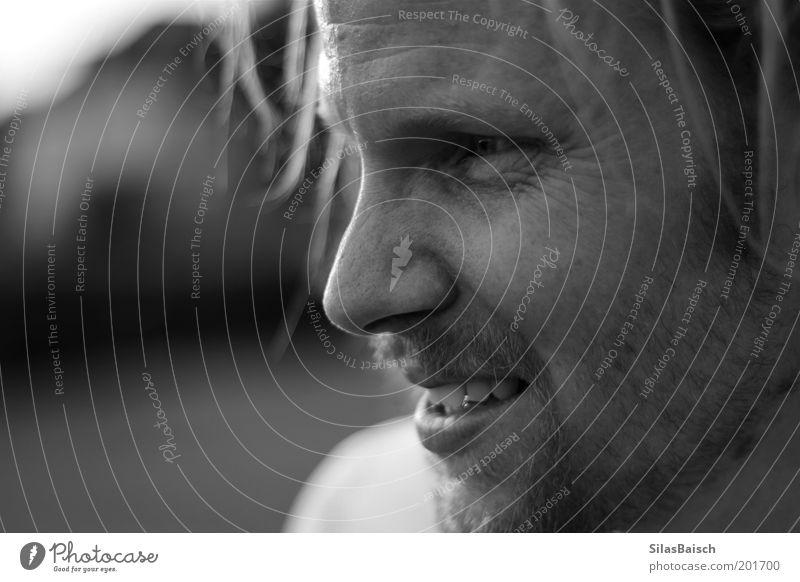 Auswechselspieler Mensch Erwachsene Gesicht Auge Mund maskulin Nase Zähne 18-30 Jahre Bart langhaarig Junger Mann