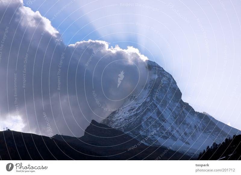 Matterhorn Ferien & Urlaub & Reisen Tourismus Sommer Sommerurlaub Berge u. Gebirge Natur Landschaft Urelemente Luft Wolken Sonnenaufgang Sonnenuntergang