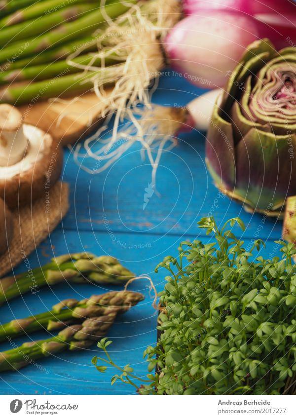 Gesundes Gemüse Lebensmittel Ernährung Bioprodukte Vegetarische Ernährung Italienische Küche frisch Gesundheit lecker Spargel Feinschmecker Kresse Artischocke