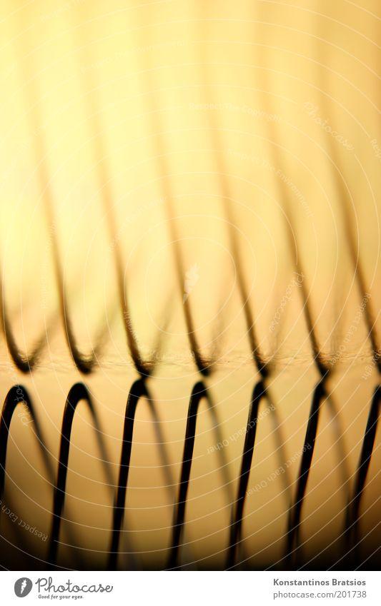 ups and downs schwarz Farbe Linie glänzend Hintergrundbild Design elegant gold dünn einzigartig außergewöhnlich Metallfeder Symmetrie Wellenform
