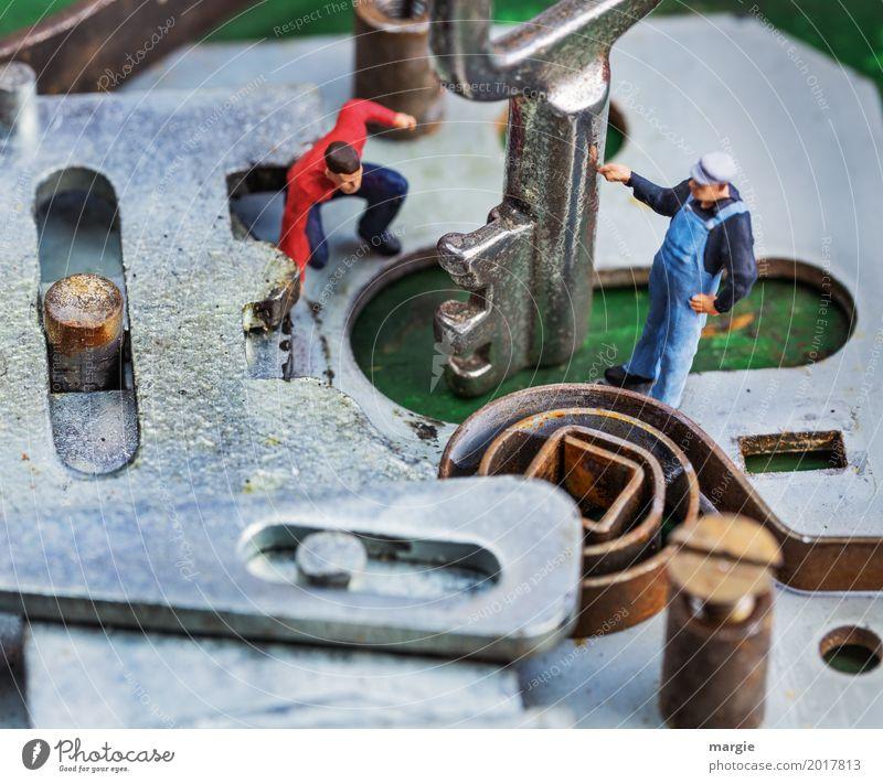 Miniwelten - Türen Technik inside Mensch Mann Haus Erwachsene Arbeit & Erwerbstätigkeit Wohnung maskulin Technik & Technologie Baustelle Sicherheit Beruf