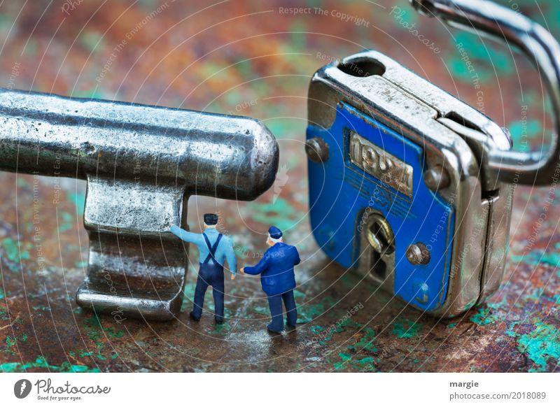 Miniwelten - Riese mit Zwergen Mensch Mann blau Erwachsene braun maskulin Technik & Technologie