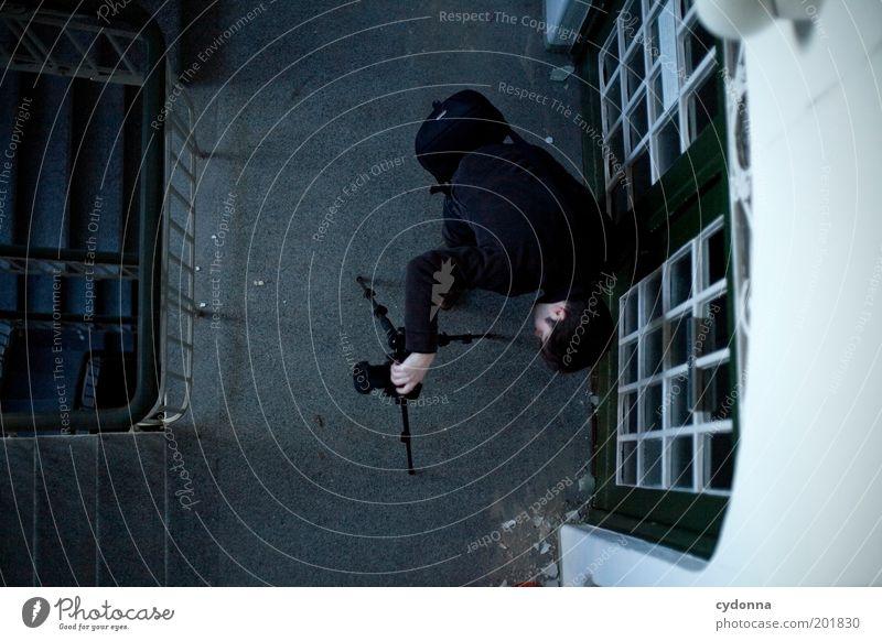 [HAL] Vogelperspektive Mensch Mann ruhig Erwachsene Perspektive Treppe Freizeit & Hobby Häusliches Leben Innenarchitektur entdecken Kreativität Idee Fotograf