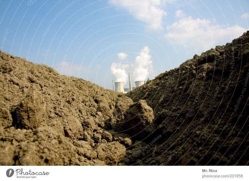 erdwärme Natur Himmel Umwelt Energie Erde Industrie Energiewirtschaft Wachstum Klima Landwirtschaft Abgas Schönes Wetter Ackerbau Schornstein Produktion