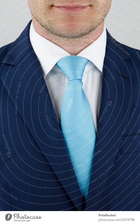 #A# Business First Kunst Kunstwerk ästhetisch Krawatte Krawattenknoten Bankangestellter Bankkaufmann Berater seriös Anzug blau Bart Mann maskulin Hemdkragen