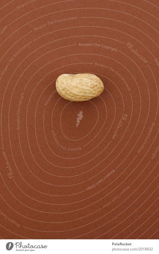#A# Harte Nuss I Gesunde Ernährung Kunst 1 braun ästhetisch geschlossen Kunstwerk hart eigenwillig Erdnuss Nussschale nußbraun