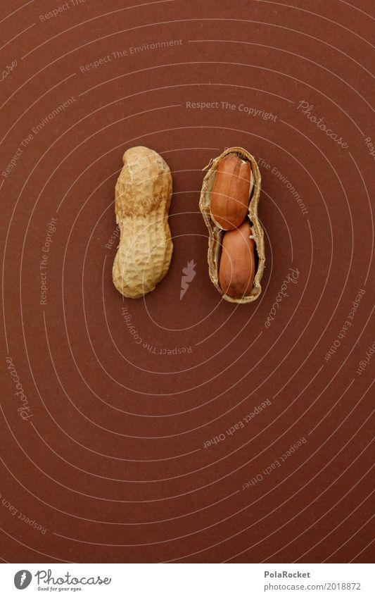 #A# 2x2=4 Kunst ästhetisch Nuss Nussschale nußbraun Nussfruchtstand Erdnuss Erdnussernte Teilung lecker Snack Farbfoto Gedeckte Farben mehrfarbig Innenaufnahme