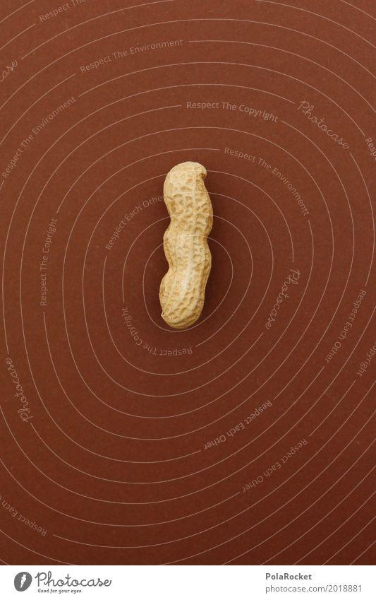 #A# Harte Nuss III Gesunde Ernährung Kunst braun ästhetisch geschlossen lecker Kunstwerk Snack Erdnuss Nussschale nußbraun Erdnussernte