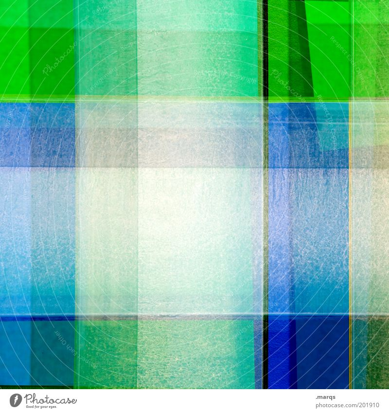 Chequered grün blau Farbe Stil Linie Kunst Design einzigartig außergewöhnlich skurril chaotisch Doppelbelichtung kariert gestreift Kultur