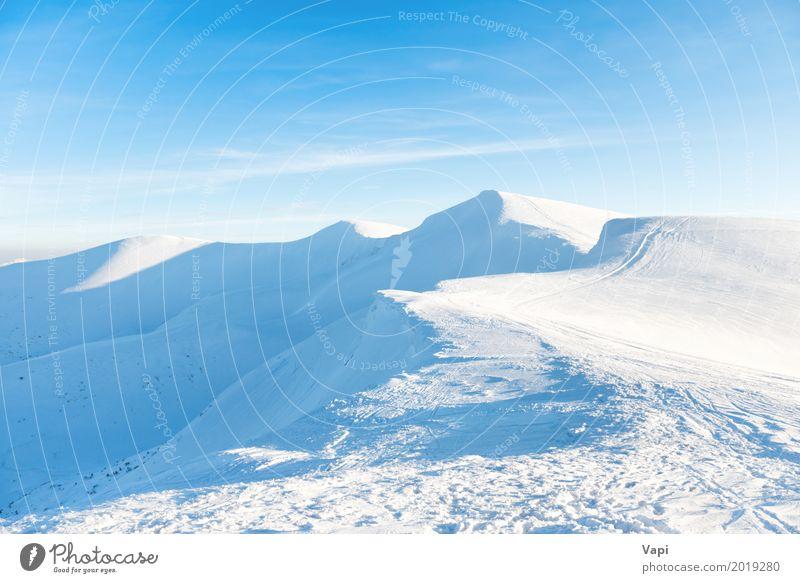Schöne Winterlandschaft mit Schneebergen schön Ferien & Urlaub & Reisen Tourismus Ausflug Abenteuer Ferne Sonne Winterurlaub Berge u. Gebirge Natur Landschaft