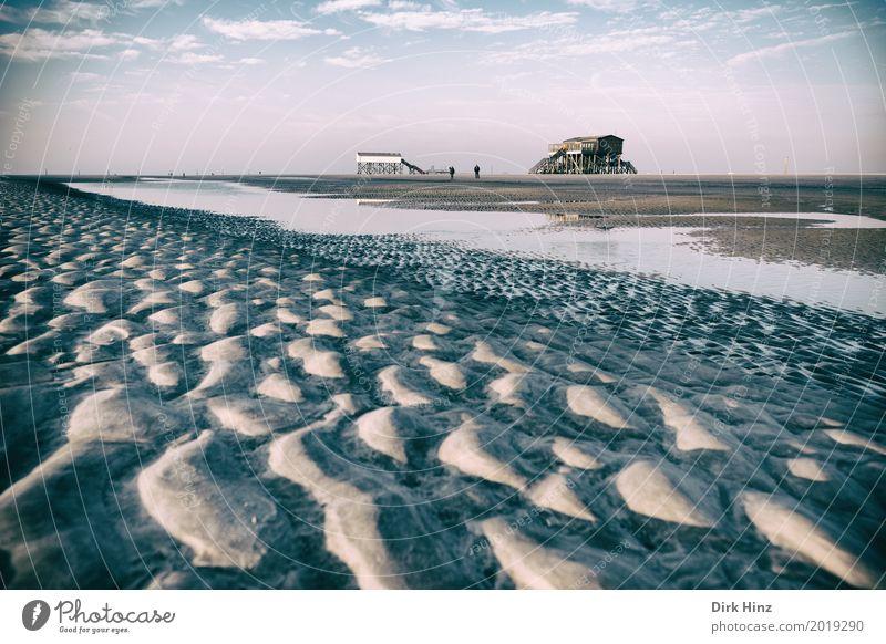 Warten auf die Flut Natur Ferien & Urlaub & Reisen Sonne Meer Erholung Strand Umwelt Küste Sand Schönes Wetter Nordsee Umweltschutz nordisch Wattenmeer