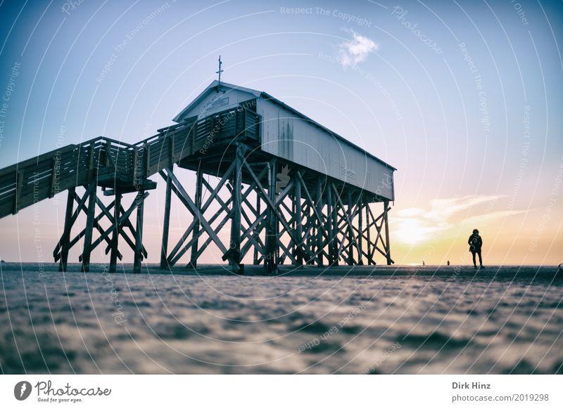 Auf Sand gebaut Natur Ferien & Urlaub & Reisen Sonne Meer Erholung Strand Umwelt Küste Horizont Schönes Wetter Spaziergang Unendlichkeit Nordsee Umweltschutz