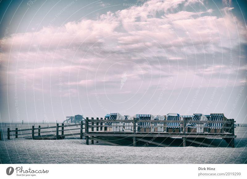 Feierabend am Strand Natur Ferien & Urlaub & Reisen Sonne Meer Erholung Umwelt Küste Tourismus Sand Aussicht Schönes Wetter Nordsee Umweltschutz Strandkorb