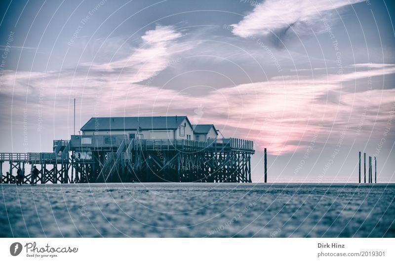Nah am Wasser gebaut Erholung Kur Ferien & Urlaub & Reisen Sonne Strand Meer Umwelt Natur Sand Schönes Wetter Küste Nordsee maritim Kurort Nordfriesland