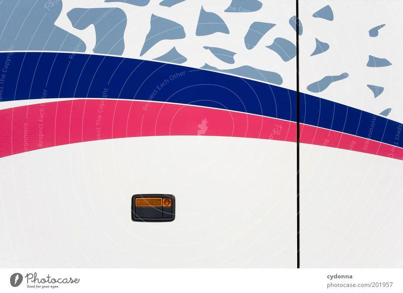BUS Ferien & Urlaub & Reisen Ferne Stil rosa Ausflug geschlossen Design Tourismus planen Lifestyle retro Autotür Ziel violett Zeichen Kreativität