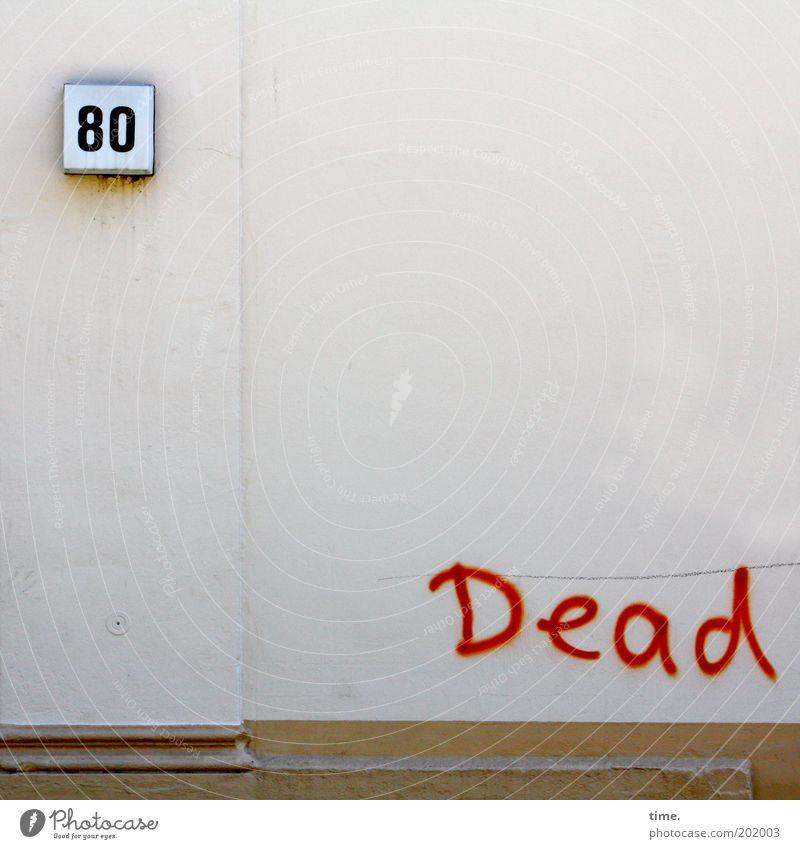 Grateful Wand Haus Hausnummer Graffiti Dead Tod Putz Mauer Außenaufnahme Gedeckte Farben Ziffern & Zahlen Wort Menschenleer Tag