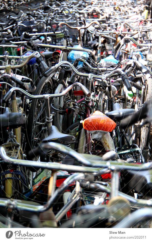 Zugeparkt..? Freizeit & Hobby Ausflug Sommerurlaub Fahrrad Originalität verrückt Sicherheit Verzweiflung Amsterdam Sattel Parkhaus Lenker Verkehrsstau Schloss