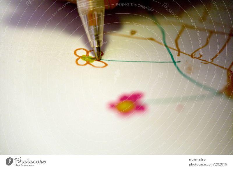 ich mal dir eine Blume schön Freude Farbe Gefühle Kunst Kindheit Freizeit & Hobby gold ästhetisch Papier Lifestyle einzigartig Dekoration & Verzierung Wunsch