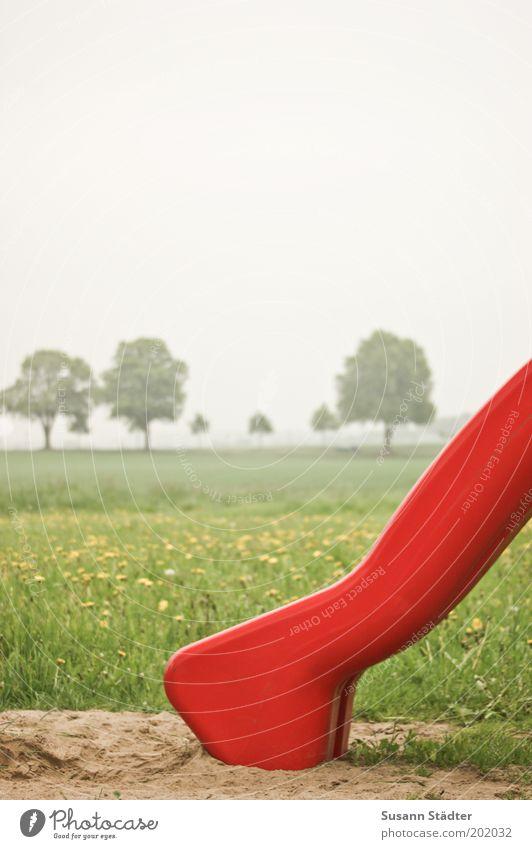 Kinderträume Natur Himmel Baum rot Wiese Gras Garten Landschaft Feld Kindheit Löwenzahn Spielplatz Leben Ödland Rutsche Naturschutzgebiet