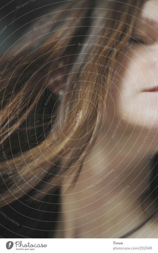 Tango Frau Mensch schön Gesicht Erwachsene feminin Kopf Bewegung Haare & Frisuren Denken träumen Haut einzigartig Sehnsucht Leidenschaft brünett