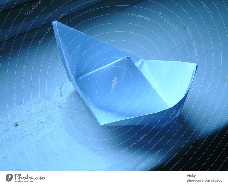 Papierschiff Wasserfahrzeug Papierhut Dinge Origami Falte