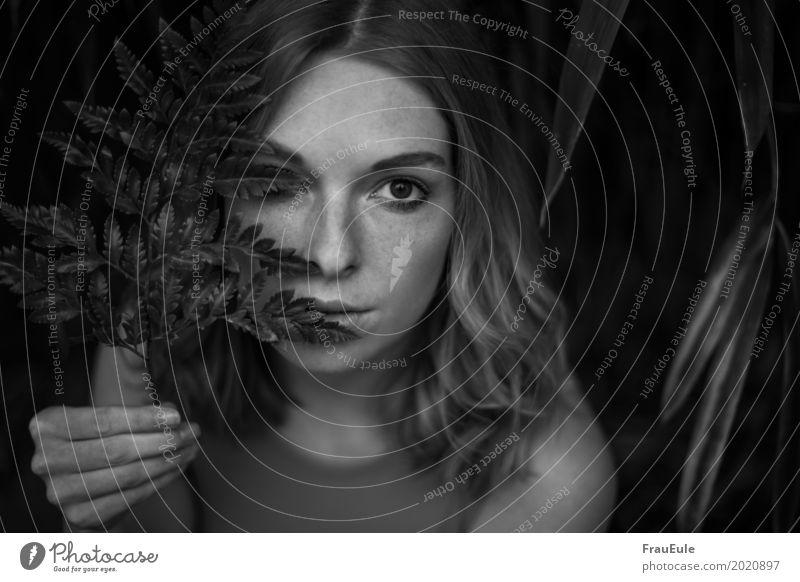 krissie II Mensch Frau Jugendliche Junge Frau Wald 18-30 Jahre Erwachsene kalt Traurigkeit Gras feminin beobachten Neugier entdecken festhalten Sehnsucht