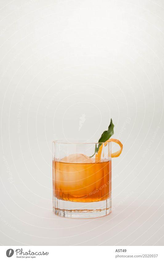 Cocktail orange Glas Eiswürfel wiskey old fashioned