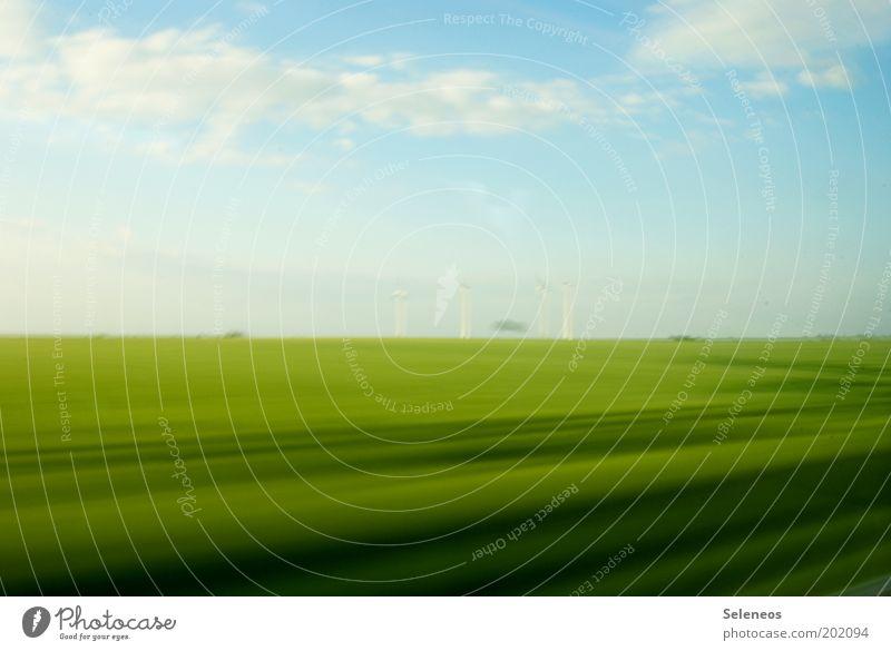 Bildrauschen Himmel Natur blau grün Ferien & Urlaub & Reisen Pflanze Sonne Sommer Wolken Ferne Umwelt Landschaft Wiese Freiheit Gras Feld
