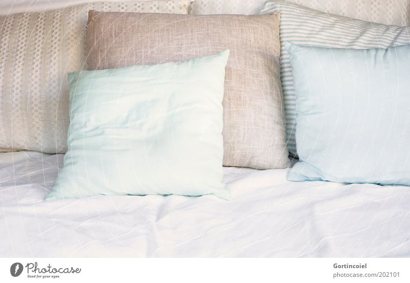 Einfach mal zurücklehnen Erholung Stil hell Design Lifestyle Ordnung Bett weich Dekoration & Verzierung Häusliches Leben Sofa Innenarchitektur Stoff Zeit Reichtum gemütlich