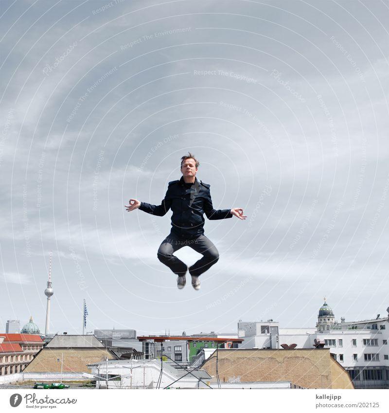 airberlin Mensch Himmel Mann Ferien & Urlaub & Reisen Haus ruhig Erwachsene Erholung Leben Berlin springen Gesundheit Körper Zufriedenheit Tanzen maskulin