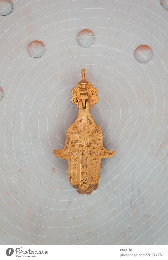 Fátimas Hand Kunst gold Islam Handwerk Tür Klingel Marokko Moslem Religion & Glaube Schutz Sicherheit Wohnung Symbolismus Symbole & Metaphern Kostbarkeit