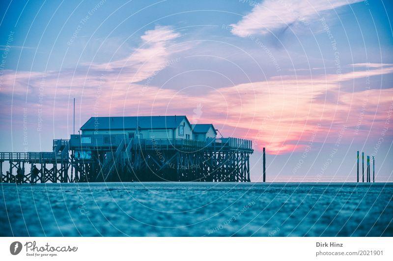 Abendstimmung im Wattenmeer Erholung Kur Ferien & Urlaub & Reisen Sonne Strand Meer Umwelt Natur Sand Schönes Wetter Küste Nordsee maritim Nordfriesland