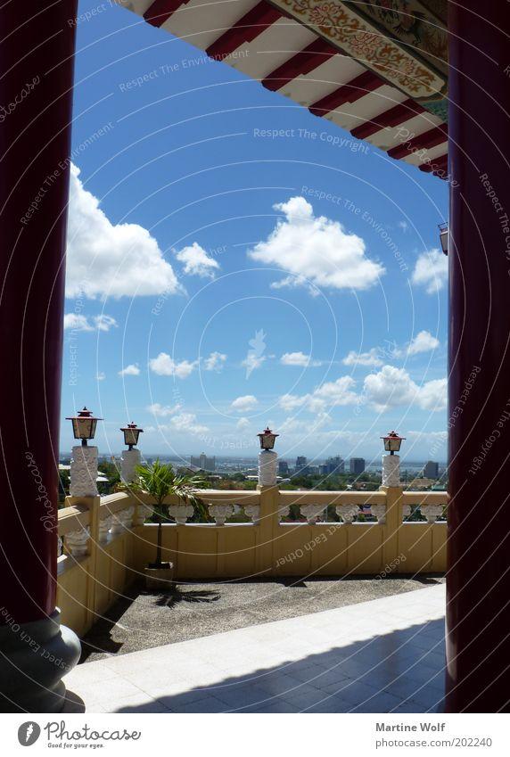Taoist Temple View Himmel Ferien & Urlaub & Reisen blau Wolken Wand Mauer Ausflug Aussicht Asien Terrasse Sightseeing Philippinen