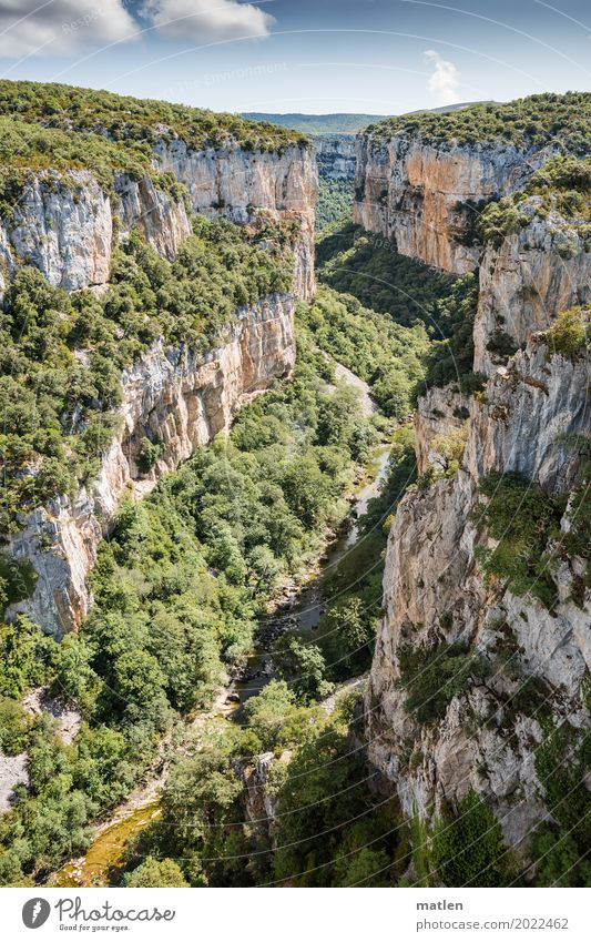 Foz de Arbayún Himmel Natur Pflanze blau grün Baum Landschaft Wolken Berge u. Gebirge natürlich Gras grau Felsen Horizont Wetter Aussicht