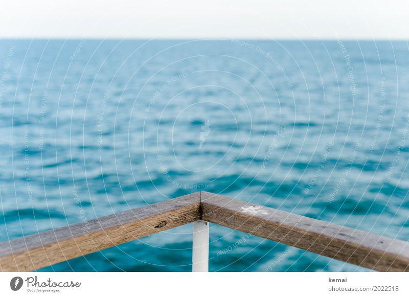 An Deck Wohlgefühl Zufriedenheit Erholung ruhig Freizeit & Hobby Ferien & Urlaub & Reisen Tourismus Ausflug Abenteuer Ferne Freiheit Kreuzfahrt Wasser Wellen