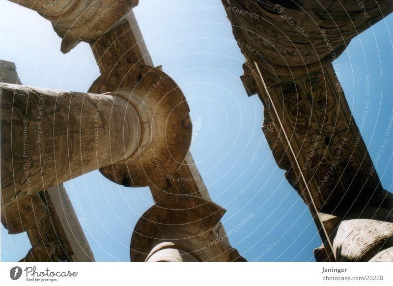 Tempel von Karnak Zufriedenheit Säule Ägypten Luxor Kolonnaden