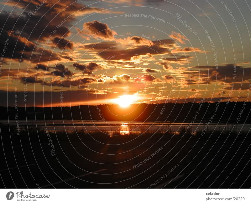 Sonnenuntergang Wasser Eis