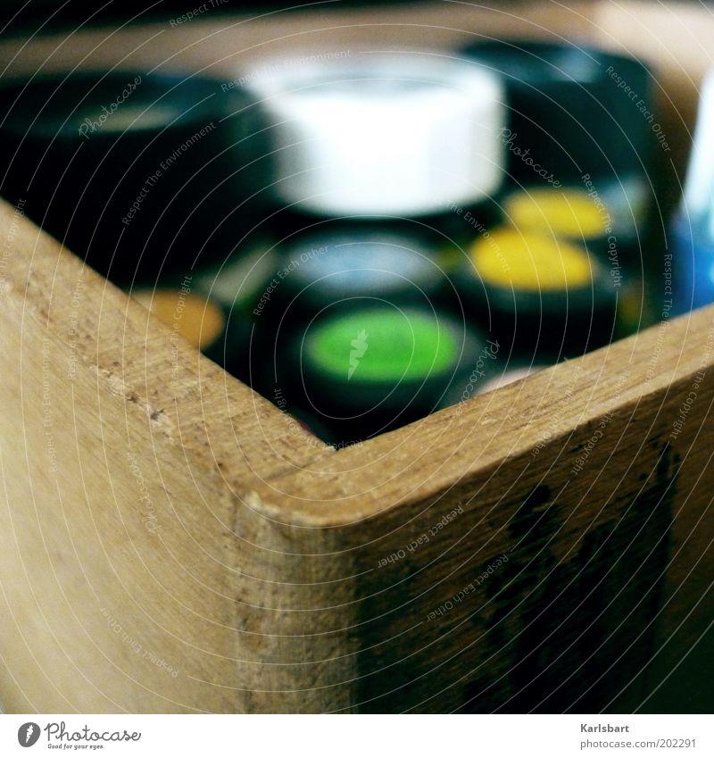 farbecke. Farbe Holz Farbstoff Freizeit & Hobby Ecke Kreativität Basteln Schublade Strukturen & Formen Holzkiste Farbtopf