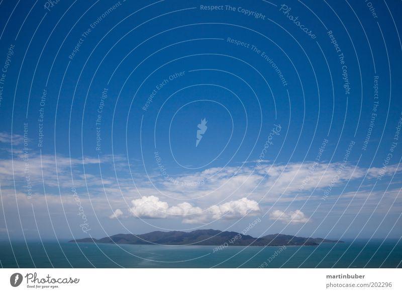 Die Insel Ferien & Urlaub & Reisen Sommerurlaub Meer Landschaft Horizont entdecken exotisch ruhig Erholung Idylle Australien Himmel Blauer Himmel