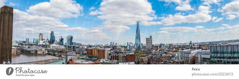 Panorama von London Ferien & Urlaub & Reisen Tourismus Städtereise England Europa Stadt Hauptstadt Stadtzentrum Skyline Hochhaus Bankgebäude Industrieanlage