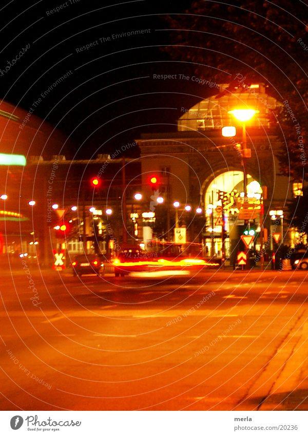 Mannheim by night PKW Beleuchtung Straßenverkehr Schilder & Markierungen Verkehr Bahnhof