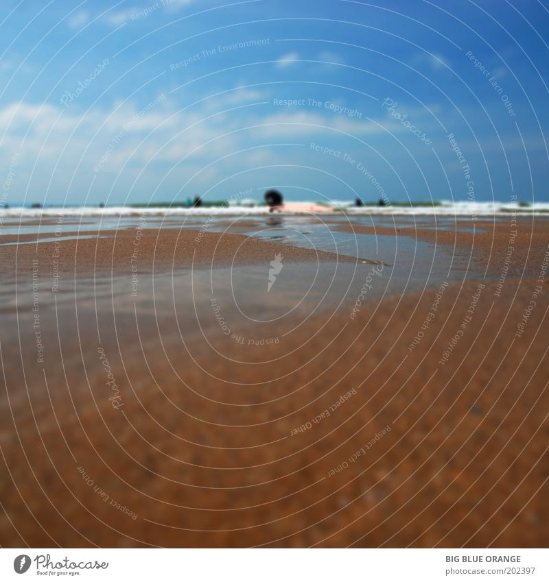 Himmel Natur Wasser blau Sommer Strand Ferien & Urlaub & Reisen Wolken Freiheit Landschaft Umwelt Glück Sand braun Wellen Kraft