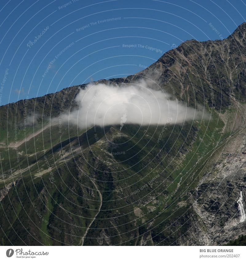 Natur blau weiß grün schön Sommer Wolken ruhig Freiheit Umwelt Berge u. Gebirge Landschaft klein Stimmung Wetter Zufriedenheit