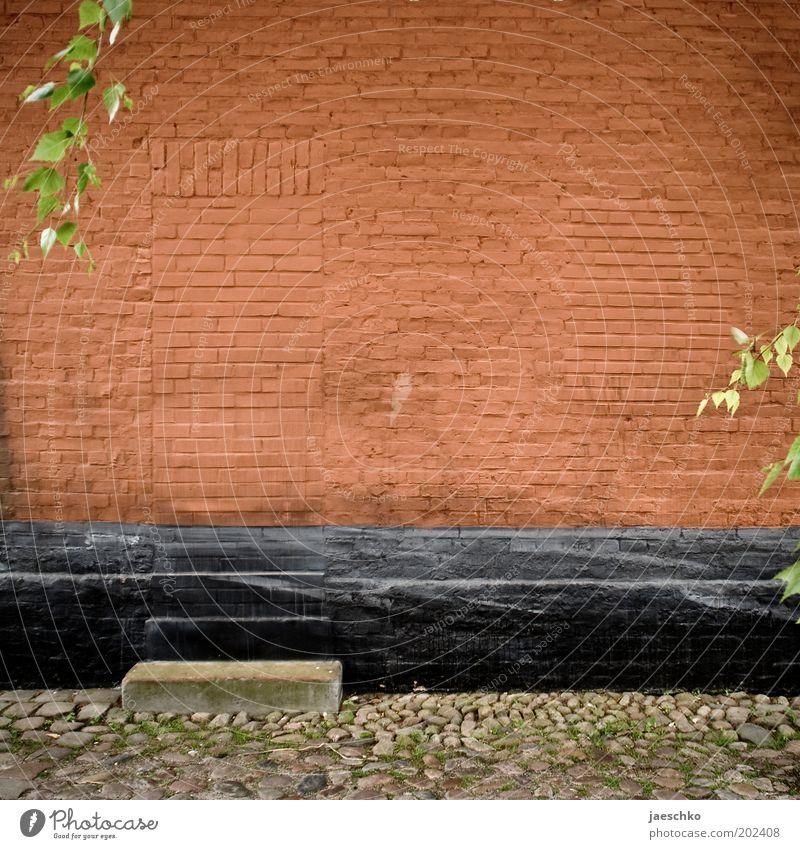 Verwunschen alt rot Wand träumen Stein Mauer Tür Zukunft Ende fantastisch geheimnisvoll entdecken Backstein Vergangenheit Eingang