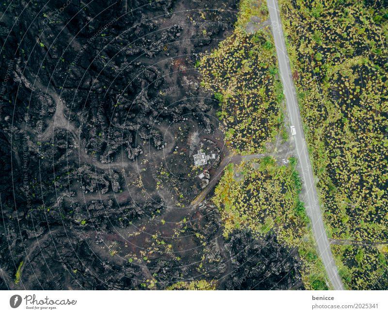 Vulkan Asche Luftaufnahme Vogelperspektive Drohne schwarz Erde Lava Wege & Pfade Asien Natur Landschaft Menschenleer Unbewohnt Indonesien Hintergrundbild PKW