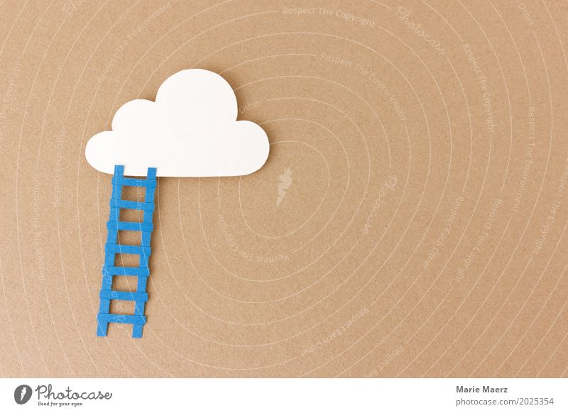 Träume wahr machen Wolken Wege & Pfade Glück braun Arbeit & Erwerbstätigkeit träumen Treppe Wachstum Erfolg authentisch Beginn Mut Karriere positiv Ausdauer