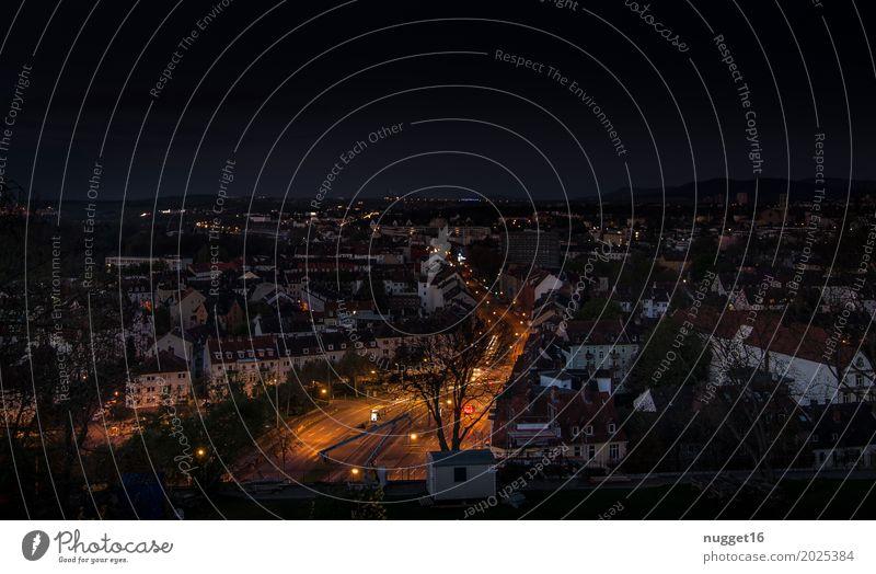Kassel bei Nacht Himmel blau Sommer Stadt grün Haus schwarz Architektur Straße gelb Herbst Frühling Gebäude Deutschland braun orange