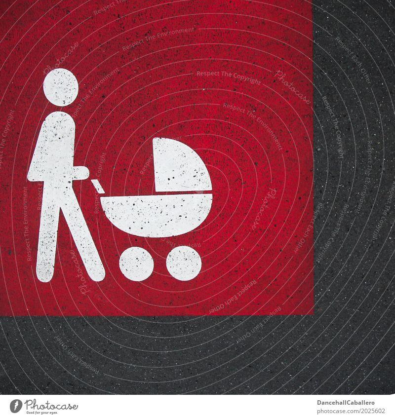 Piktogramm von Mensch mit Kinderwagen auf Straße Mutter Baby Familie & Verwandtschaft Mutter mit Kind Elternteil mit Kind Fußgänger Spaziergang Kindererziehung