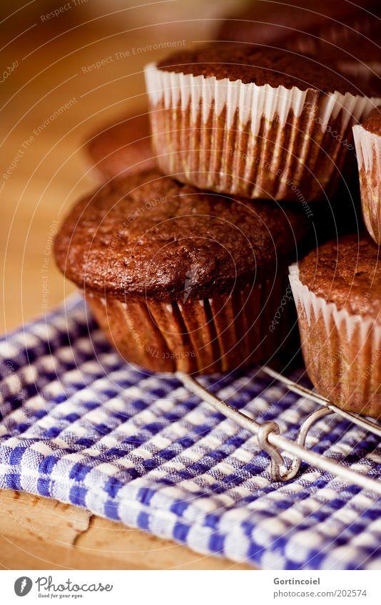 N Lebensmittel Teigwaren Backwaren Kuchen Dessert Süßwaren Schokolade Kaffeetrinken frisch lecker süß braun Muffin Kalorienreich Foodfotografie Farbfoto